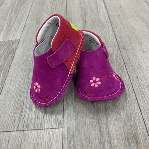 PIPIT suede Flower fuchsia strawberry walker shoes